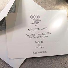 #Connor #SaveTheDate #NYC #stationery #wedding #bridal #bespoke #handstamped #engraved #BeverlyHills
