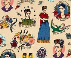 TODO-PARA-TI-Alexander-Henry-FRIDA-KAHLO-Portraits-Folklorico-Fabric-1-2-yd
