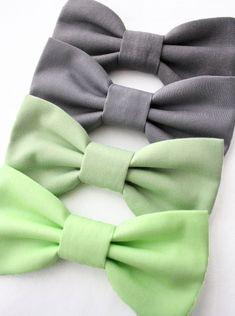 Dog Cat Bow Tie Bowtie Mint Sage Green Grey Slate by dusidog, $10.00