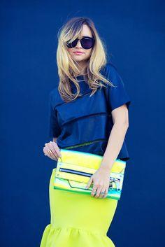 Neon Skirt And Clutch ☻                                                                                                                                                                  ⇜•ṄεΦЙ❉€яᗛƶΣ•⇝