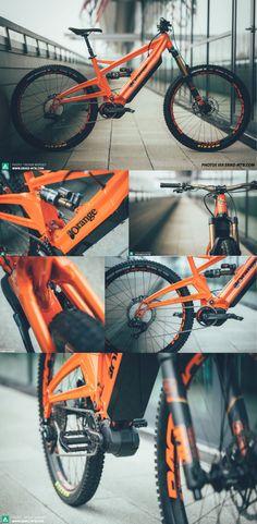 SPY SHOTS Courtesy of E-Mountain Bike, here are the latest spy shots of the Orange x Strange E-Bike. One of the top electric enduro/downhill MTB ever seen.
