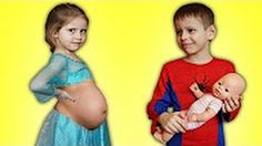 Pregnant Frozen Elsa Gives Birth to Baby 👶 Real Life Superheroes Fun Movie - YouTube