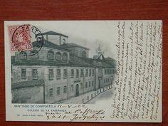 GALICIA SANTIAGO COMPOSTELA HAUSER 581 COLEGIO DE LA ENSEÑANZA POSTAL AÑO 1902