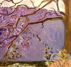 Watergap Tree, March by Lois Dod . lots of linseed oil in this so it acts a little like water color.