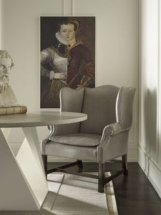 Darryl Carter | This Room Scene Features The Morse Wingback Chair, Fold  Round Dining Table