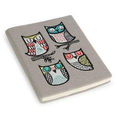 sleepy owls felt notebook