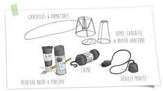 Une suspension design 100% récup DIY