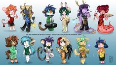 Chinese Zodiac by *Neolucky on deviantART