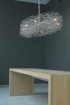 Brand Van Egmond Chandelier - Hollywood series oval Light Art, Lamp Light, Contemporary Chandelier, Hanging Lights, Light Decorations, Light Fixtures, Modern Design, Sweet Home, Hollywood