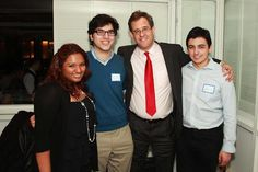 Tom with Student Volunteers.© 2012 Allan Montaine