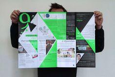 Newsletter Vanksen by michael Descharles, via Behance Newsletter Design, News Media, Brochure Design, Editorial, Polaroid Film, Behance, Design Inspiration, Branding, Layout