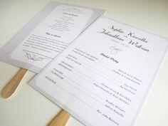 Style of programs at https://www.etsy.com/listing/151684267/printable-5x7-simple-elegant-wedding
