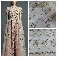 Organza Spitze Stoff, Stickerei-Spitze, Blumen Spitze Stoff, Lace Kleid Stoff, weiche Spitze Stoff, Mode Spitze Stoff - 120 x 50 cm Dies ist eine Art von…