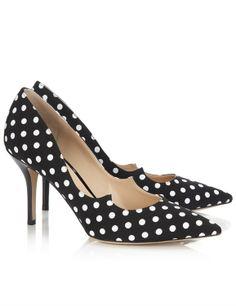 Paul Andrew - polka dot black and white heels
