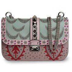 Valentino Medium Lock Bag (€1.940) ❤ liked on Polyvore featuring bags, handbags, colorful bags, valentino handbags, valentino bag, multi color handbag and lock bag