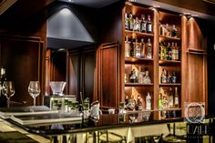 Bar. Cocktail Bar at Quale Restarant in Lodz, Poland