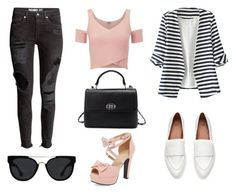 """""""Monday outfit #2"""" by bloguerosa ❤ liked on Polyvore featuring Lipsy, WithChic and Quay"""