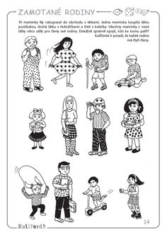 Pracovní sešity pro předškoláky KuliFerda Grandparents Day, Preschool Worksheets, My Family, Kindergarten, Activities, Education, Therapy, Autism, Kids Learning