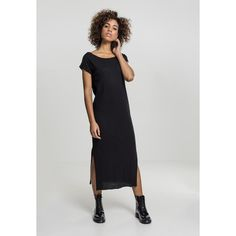 937d9d76c405 Shop online Urban Classics Women s Long Dress black from CompleX. The  flowing fabric midi-dress in classic black is probably the most beautiful  way to make ...