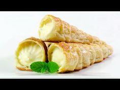 Rulouri cu Crema de Vanilie | JamilaCuisine - YouTube Romanian Desserts, Romanian Food, Romanian Recipes, Sweets Recipes, Cooking Recipes, My Favorite Food, Favorite Recipes, Dessert Bread, French Food