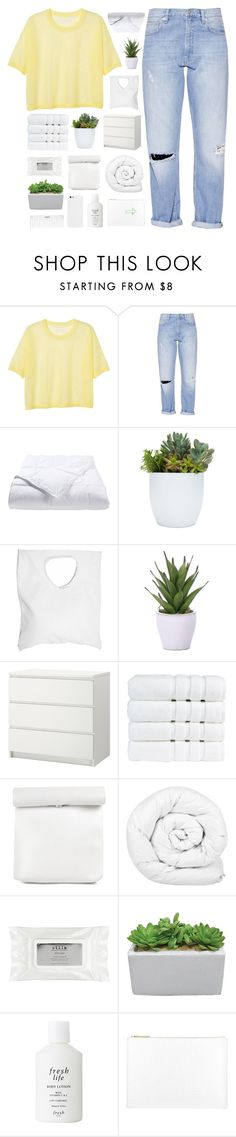 """""""your love was handmade for somebody like me"""" by elderflowers ❤ liked on Polyvore featuring Monki, French Connection, Phoenix Down, Jennifer Haley, Lux-Art Silks, Christy, Brinkhaus, Stila, Conair and Fresh"""