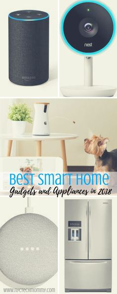 Best Smart Home Gadgets and Appliances in 2018 - NYC Tech Mommy - Home Technology Ideas Smart Home Ideas, Best Smart Home, High Tech Gadgets, Home Gadgets, Kitchen Gadgets, Cooking Gadgets, Cooking Tools, Kitchen Tools, Baby Gadgets