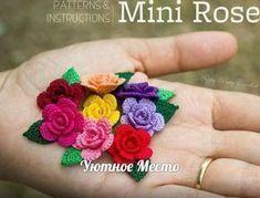 crochelinhasagulhas: Mini rosas em crochê