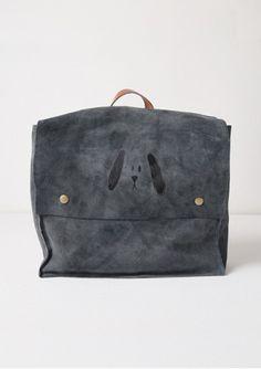 Suede School Bag - Dog