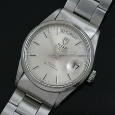 Vintage Tudor Day-Date Watch in Stainless. $1595
