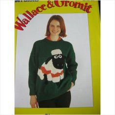 Patons knitting pattern E2337 Wallace & Gromit sweater bust 34 - 42 inch 5013712322044 on eBid United Kingdom