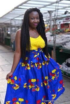 Royal Blue High Waist Skirt ; African Clothing; African Print; African Skirt…