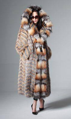 GOLD & SILVER SAGA FOX FUR COAT jacket size XL/ 2XL 100% GENUINE NEW 2016   Clothing, Shoes & Accessories, Women's Clothing, Coats & Jackets   eBay!