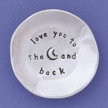Awww, this charm bowl is perfect for everyone who you love to the moon and back.