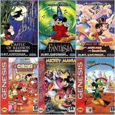 Mega Drive Mickey Mouse Series #fugretro #sega #16bit #videogames #retrogaming #Fugretro #FR Game Boy, Sega Genesis, Mickey Mouse, Nintendo, Videos, Illusions, Album, Instagram, Videogames
