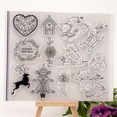 Christmas Bear Transparent Clear Silicone Stamp/Seal for DIY scrapbooking/photo album Decorative clear stamp sheets-in Stamps from Office & School Supplies on Aliexpress.com | Alibaba Group