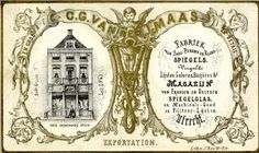 Afbeelding van de voorgevel van het Huis Drakenburg (Oudegracht G 43; Spiegelfabriek C. G. van der Maas) te Utrecht.  N.B. Het adres Oudegracht G 43 werd in 1890 gewijzigd in Oudegracht Weerdzijde 59. Dit adres werd in 1917 gewijzigd in Oudegracht 114. 1865-1875