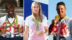 Mo Farah, Helen Glover and Justin Rose are among the athletes to have their…