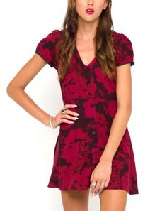 Motel Rocks Tahnee Tea Dress in Tonal Floral Maroon worn by Mona Vanderwaal on Pretty Little Liars. Shop it: http://www.pradux.com/motel-rocks-tahnee-tea-dress-in-tonal-floral-maroon-31449?q=s15