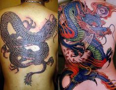 Dragon tattoos for girls are very popular because of the variability . Dragon Tattoo For Women, Tattoos For Women, Traditional Japanese Dragon, Japanese Dragon Tattoos, High Quality Images, Girl Tattoos, Watercolor Tattoo, Skull, Popular