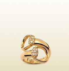 Gucci - bague mors en or