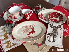 Serve a spectacular seasonal meal on delightful dining décor, complete with darling reindeer details!