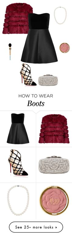 """""""Untitled #347"""" by micha-p on Polyvore featuring AINEA, RED Valentino, Christian Louboutin, Oscar de la Renta, Blue Nile, Too Faced Cosmetics and Milani"""