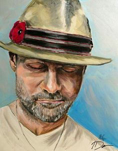 Gord Downie of The Tragically Hip: His voice will always be in my life's playlist. Hip Hip Hurray, Ukulele Art, Drawing Tutorials For Beginners, Downy, Bruce Springsteen, Motown, Concert Posters, My Favorite Music, Hats For Men