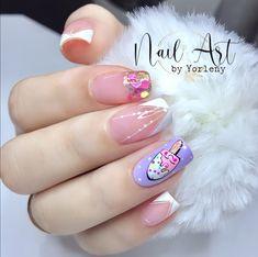 Bridal Nail Art, Best Acrylic Nails, Gel Nail Designs, Love Nails, Gel Nails, Beauty, Pretty Nails, Work Nails, Decorations