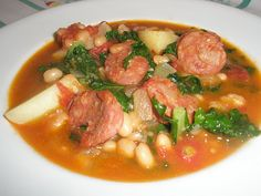 Portugese Linguica, Bean & Kale stew.  Perfect for a cozy evening!