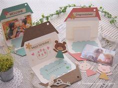 イベント「オプトマルシェ」体験ワークショップ Art N Craft, Diy Art, Happy Birthday Cards Handmade, Exploding Boxes, House Of Cards, Thank You Cards, Diy And Crafts, Congratulations, Card Making