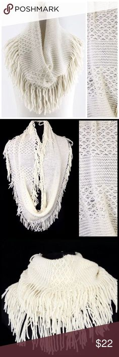Cool Infiniti 2017: B93 Soft Ivory Fringe Knit Infinity Scarf ‼️ PRICE FIRM UNLESS BUNDLED WITH ... Check more at http://cars24.top/2017/infiniti-2017-b93-soft-ivory-fringe-knit-infinity-scarf-%e2%80%bc%ef%b8%8f-price-firm-unless-bundled-with/