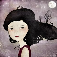 Anne-Julie Aubry. I love how she does mysterious-whimsy. I also love how she paints her characters' hair.