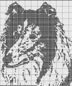 un solo color Filet Crochet Charts, Knitting Charts, Afghan Crochet Patterns, Cross Stitch Charts, Cross Stitch Patterns, Cross Stitching, Cross Stitch Embroidery, Dog Chart, Pixel Crochet