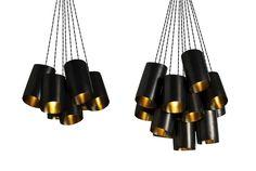CTO Lighting - Rollo Cluster #maisonobjet #design #black #gold